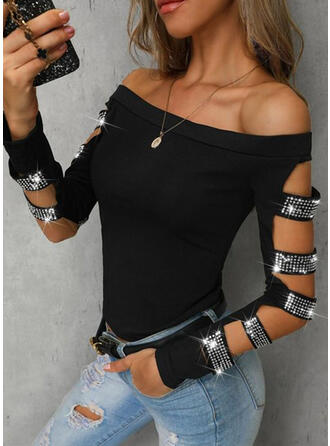 Off the Shoulder Long Sleeves Sexy Blouses