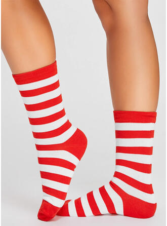 Striped Comfortable/Christmas/Crew Socks/Unisex Socks