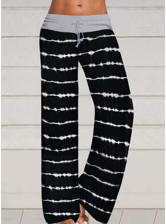 Striped Drawstring Long Casual Sexy Pants