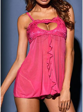 Polyester Spandex Lace Sexy Alluring Slip Night Dress