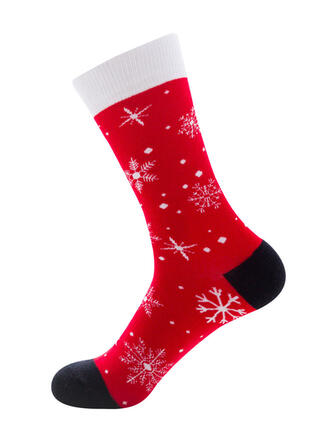 Print Breathable/Christmas/Crew Socks/Unisex Socks