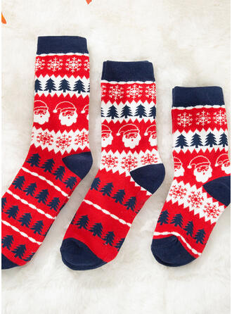 Christmas Tree/Christmas Santa Comfortable/Christmas/Crew Socks/Family Matching/Unisex Socks