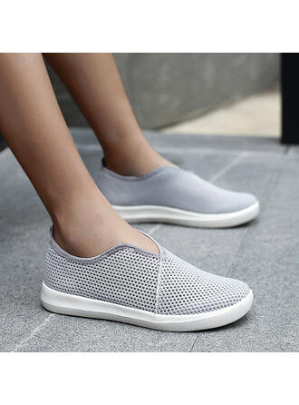 Women's Flying Weave Flat Heel Flats Round Toe With Hollow-out Patchwork shoes