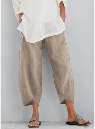 Solid Long Casual Long Solid Pants