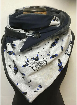 Print/Leaves Reusable/Women's/Simple Style Scarf