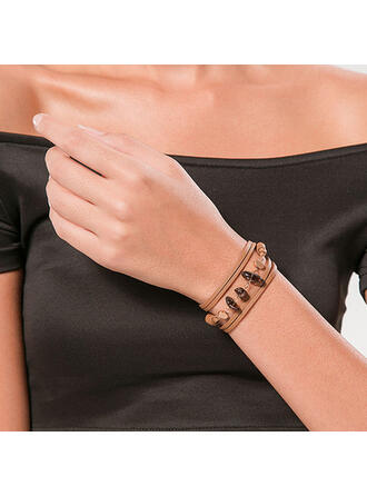 Attractive Elegant Layered Alloy With Acrylic Bracelets