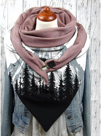 Graphic Prints Oversized/fashion/Comfortable Scarf