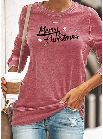 Figure Round Neck Long Sleeves Christmas Sweatshirt