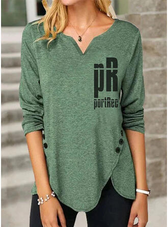 Figure V-Neck Long Sleeves Button Up Casual Blouses