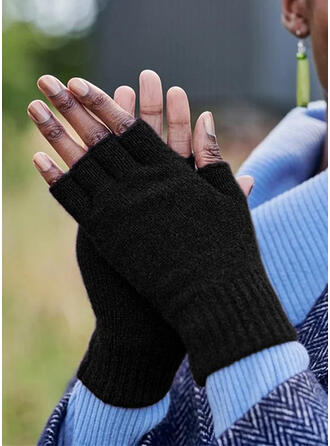 Solid Color simple/Comfortable/Fingers Gloves
