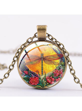 Dragonfly Alloy Glass Women's Necklaces