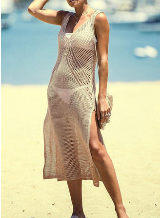 Mesh U-Neck Casual Cover-ups Swimsuits