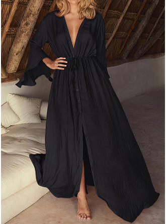 Solid Strapless Eye-catching Vacation Party Cover-ups Swimsuits