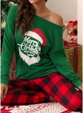 Plaid Print Plus Size Christmas Casual Suits