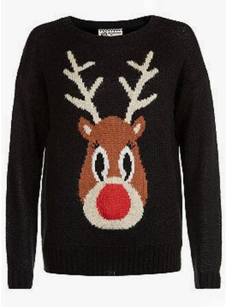 Unisex Polyester Deer Ugly Christmas Sweater