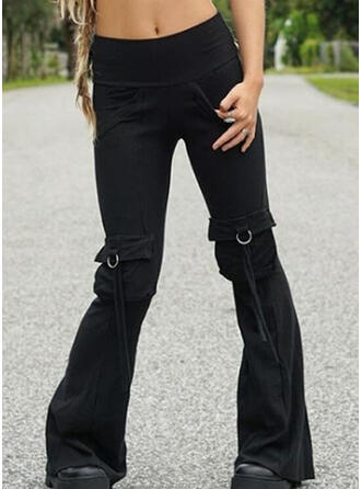 Solid Pockets Plus Size Casual Sexy Lounge Pants
