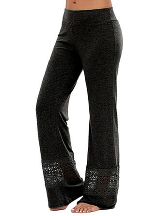 Solid Plus Size Casual Sporty Yoga Lounge Pants