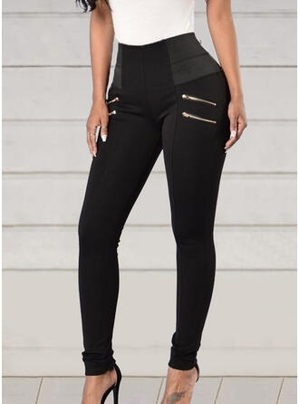 Solid Patchwork Cropped Sexy Sporty Yoga Pants Leggings