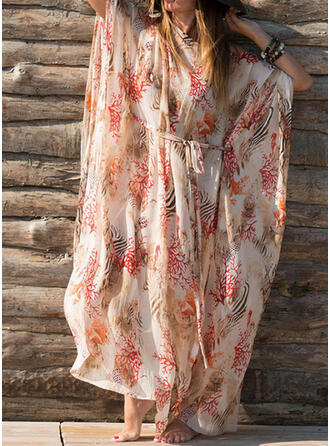 Print Strapless Sexy Elegant Vintage Cover-ups Swimsuits